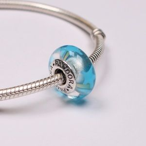 Authentic PANDORA Silver/Murano Glass Stars Charm